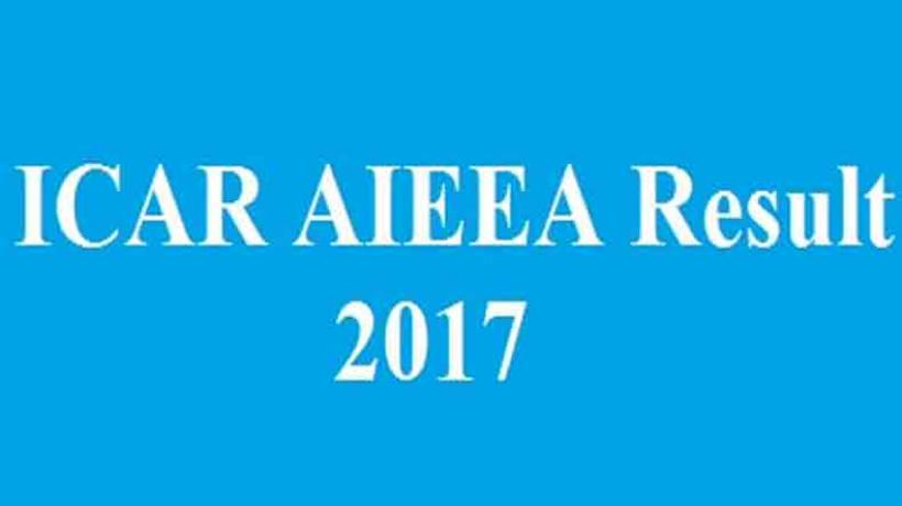 ICAR AIEEA UG, PG Exam 2017 Results Declared; Check Now @ Icarexam.net check here