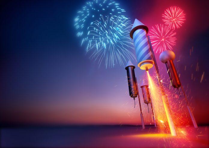 Happy New year fireworks 02
