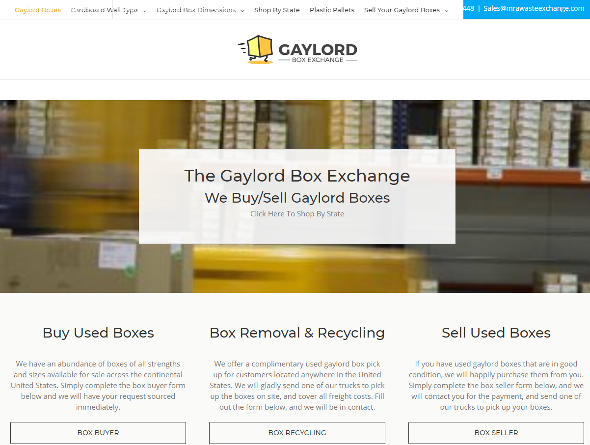 The Best Site For Disposing Boxes & Pallets : Thegaylordboxexchange.Com